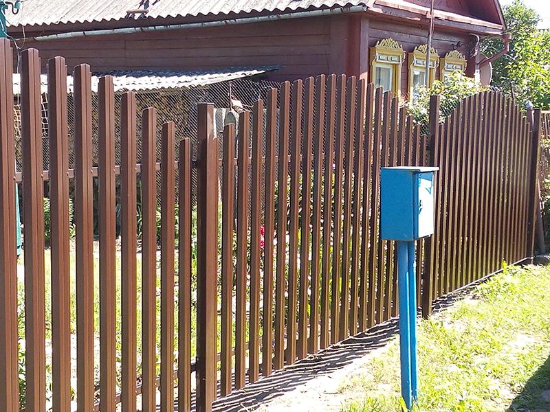 Проект Металлический штакетник Grand Line, П-образный г. Полоцк | Слайд 1