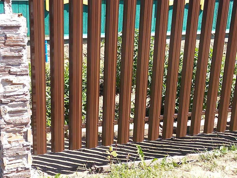 Проект Металлический штакетник Grand Line, П-образный г. Полоцк | Слайд 2